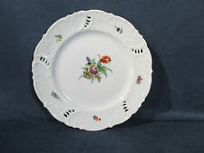 Nymphenburg Plate Reticulated Pierced Edge Vtg Porcelain Flowers Hand Painted