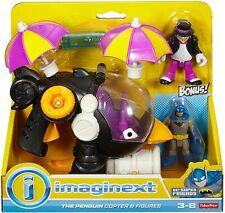 Fisher- Imaginext DC Super Friends Penguin Copter and Batman Figure