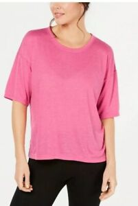 Calvin Klein Performance Split-Back T-Shirt Pink Women's Large $39