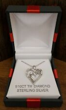 """Necklace 1/10Ct Tw Diamond Sterling Sliver 18"""" Pendent"""