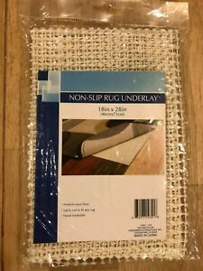 Non-Slip Rug Underlay Pad 18 in. x 28 in (46 cm x 71 cm) Keeps Rugs In Place NEW