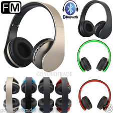 3.5MM Wireless Bluetooth Stereo Headset Earphone Headphone Micro SD Card FM Lot