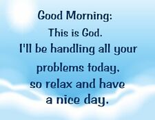 METAL MAGNET Morning This Is God Handle Problems Relax Religion Family Friend