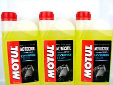 3x 1Liter Motul Motocool Expert Motorrad Kühlflüssigkeit gelb Kühlerschutz