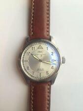 IWC Pilot Mark XV curved end padded leather strap MIT Cheergiant 萬國錶圓弧型錶耳牛皮手工錶帶