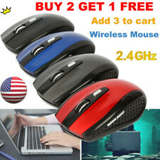 2.4GHz Cordless Wireless Optical Mouse Mice+ USB Receiver for Laptop PC Computer