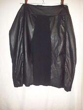Mado-et-les-Autres ladies black skirt with faux leather trim size 42 (14)