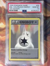 Pokemon Game 96 Double Colorless Energy 1st Edit Shadowless PSA 10 Gem Mint Card