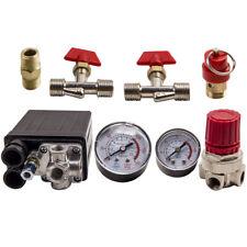 Air Compressor Pressure Switch Control Valve Regulator With Gauges 90 120 Psi