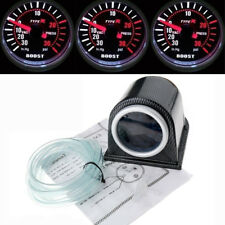 52mm Car Motor 30 PSI Pressure Vacuum Turbo Boost Pointer Dials Gauge Meter LED