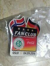 Norwegen - Deutschland Oslo 04.09.2016 Pin Fan Club Coca Cola DFB WM Quali