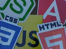 Web Developer stickers pack HTML5 CSS3 JavaScript Node.js Angular Vinyl Decal