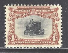 U S STAMP u.s.a, SC# 296,4¢ 1901 Pan American Expo,Electric Automobile,MINT HGD