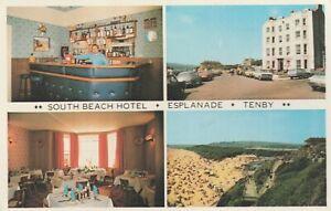 South Beach Hotel, Esplanade, Tenby - 1974 Unused Postcard