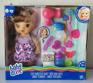 Baby Alive Cute Hairstyles Brunette Doll