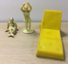 Marx Playset Marx Pool Kids and lounge chair accessories Dollhouse Vinyl 45mm