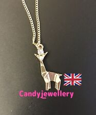 Funky Gold Origami Giraffe Necklace Kitsch Quirky As Seen In Magazine Blogger
