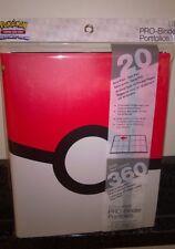Ultra Pro Pokemon Pokeball  9 Pocket Page Portfolio Album Binder Holds 360 cards