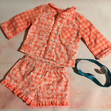 "American Girl 18"" Doll - Tenney Grant Genuine Pyjamas Outfit Retired  (1G)"