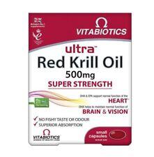 Vitabiotics Ultra Red Krill Oil Vitamins. Heart Brain & Vision - 30 capsules