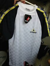 LE COQ SPORTIF T SHIRT  30/32 INCH AT £ 9 WHITE/NAVY BNWK POLYESTER