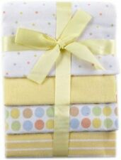 Luvable Friends 4 Soft Cotton Flannel Receiving Blankets Baby Boy Girl Gift