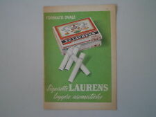 advertising Pubblicità 1957 SIGARETTE CIGARETTE LAURENS