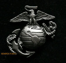 EAGLE GLOBE ANCHOR EGA PEWTER HAT PIN MADE IN US MARINES USMC MCRD MCAS MCB GIFT
