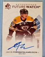 2017-18 SP Authentic FUTURE WATCH #127 Jakob Forsbacka-Karlsson AUTO 680/999