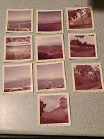 Lot 12 Vintage 1960s Navy Photos Photographs Crete Prison Catania Sicily Mt Etna