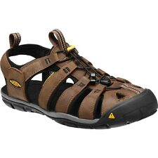 KEEN Clearwater Leather CNX Mens Sandal - Dark Earth Black Outdoors US 10.5