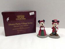 New Dept. 56 Heritage Village Series Disney Parks Mickey And Minnie #5353-8