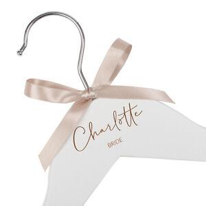 Personalised engraved dress hanger, Jajo UK, laser, bridesmaid hanger, bride
