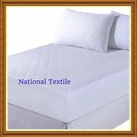 25CM DEEP HOTEL QUALITY QUILTED MATTRESS PROTECTOR FITTED BED COVER All SIZES