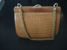 1960 S Vintage Sacha Crocodile Sauvage Skin Small Handbag France Saks
