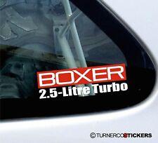 Boxer 2.5-Litre Turbo sticker for Subaru Legazy, Impreza , Forester 2.5 Turbo