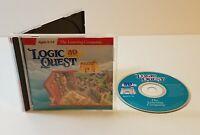 Logic Quest 3D Adventure PC CD-Rom 1996 windows children kids educational game