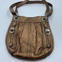 B Makowsky purse shoulder bag hobo satchel crossbody leather tote organizer READ