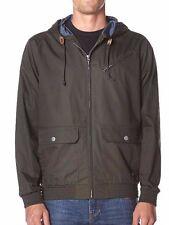 RVCA SIL Boys Youth Zipper Front Cotton Hoodie Jacket  Medium Coalmine Grey NEW