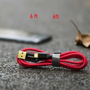 Anker 6ft / 1.8m Nylon Braided Tangle-Free Micro USB Cable with Gold-Plate