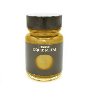 YELLOW GOLD LIQUID METAL METALLIC PAINT 30ml WOOD PAINTING LEAF GILDING CR78281D