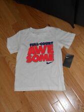 """NWT - Nike short sleeved white, blue & orange""""Full-court Awesome"""" shirt - 6 boys"""