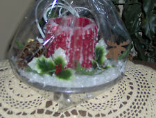 FESTIVE 4X4 ELECTRIC CANDLE Highly Decorated ~Your Choice of Fragrance & Color