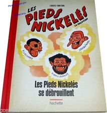 Album Les PIEDS NICKELES se DEBROUILLENT tirage dos toilé rouge Louis FORTON bd