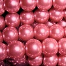100 pieces 8mm Glass Pearl Beads - Blush Pink - A1039