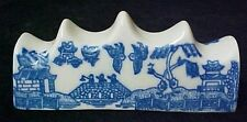 Blue Willow Porcelain China Knife Rest Stand Country Classic Blue White Pattern