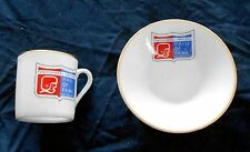"""Professional Football Hall Of Fame Canton Ohio 2 1/8"""" Cup & 4 1/2"""" Saucer XMT NR"""