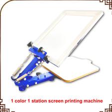 1 COLOR SCREEN PRESS single color screen printing manual desktop screen print BI