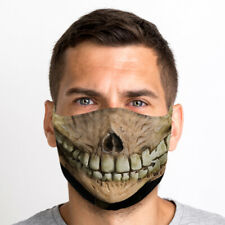 Smiley Evil Skull Mouth One Size Reusable Washable Breathable Face Mask From UK