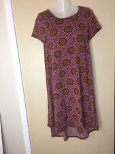 Lularoe XXS Boho MANDALA Sunflowers Spring Floral Purple Carly Dress HTF